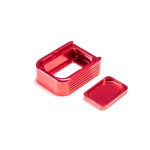 ASP Aluminium +2  Magazine Base Pad - Glock 9mm \ 40 S&W [Red]