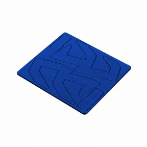 Double Alpha Alpha-X Pouch Logo Inlay - Blue