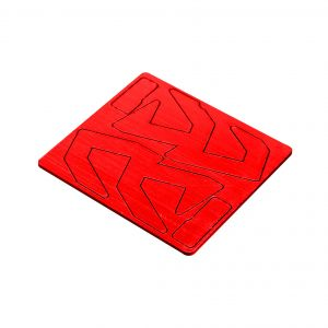 Double Alpha Alpha-X Pouch Logo Inlay - Red