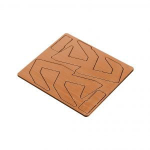 Double Alpha Alpha-X Pouch Logo Inlay - Copper