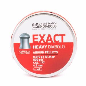 JSB Exact Heavy Pellets - 177-cal 4.52mm, 10.34gr Domed