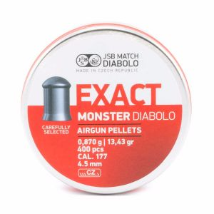 JSB Exact Monster Pellets - 177-cal 4.52mm, 13.43gr Domed