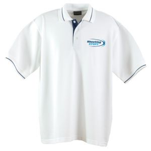 Shooting Stuff Golf Shirt - White